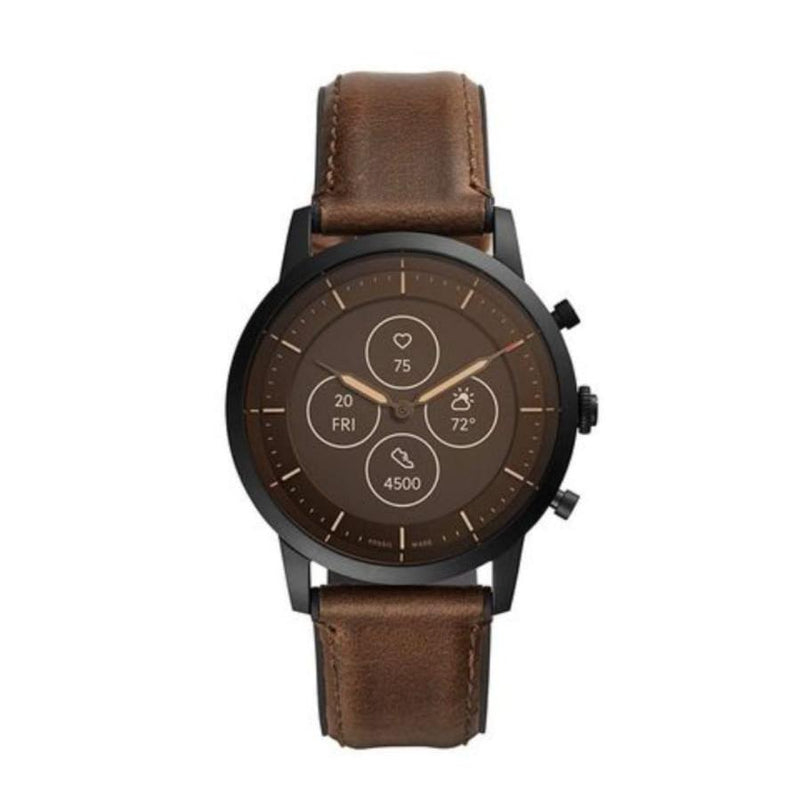 Men Casual Plain Brown Smart Watch