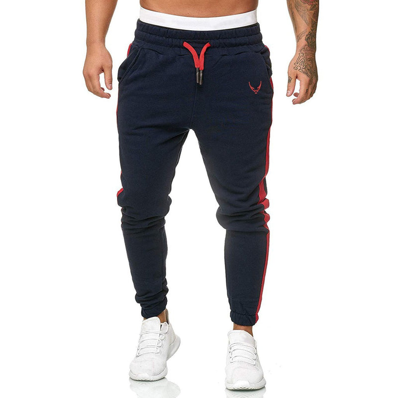 Men Jogger Pants Striped Side