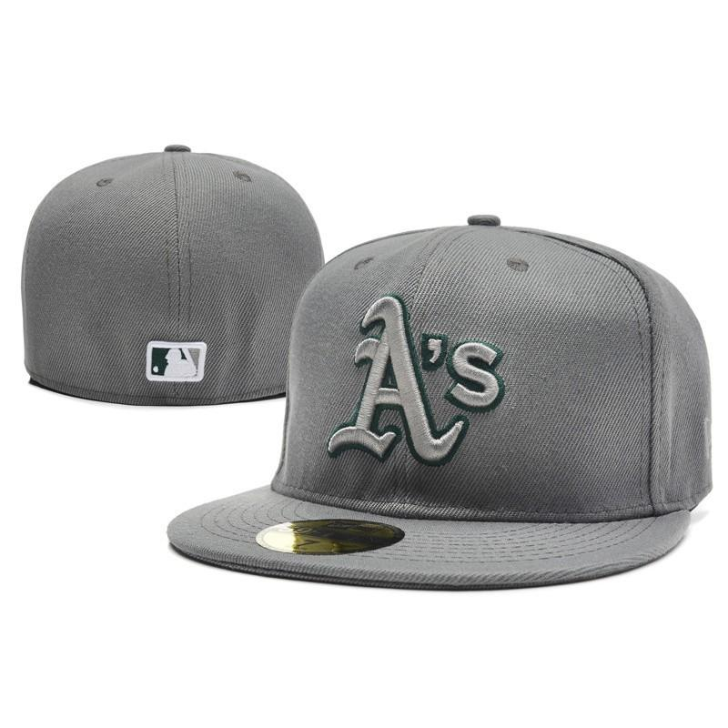 Men Grey A's Cap