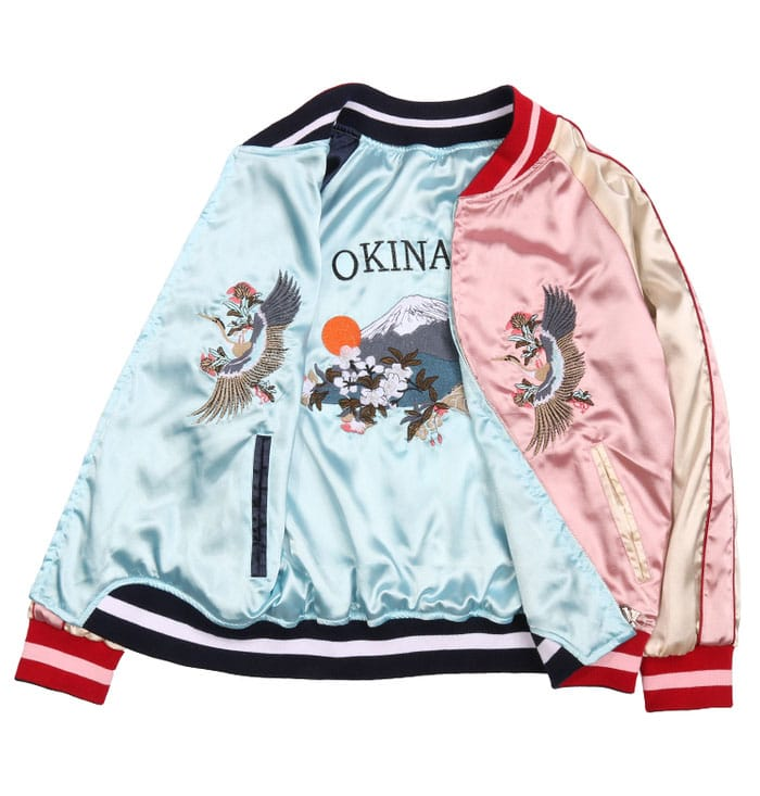 Women Blue And Pink Two-Sided Jacket