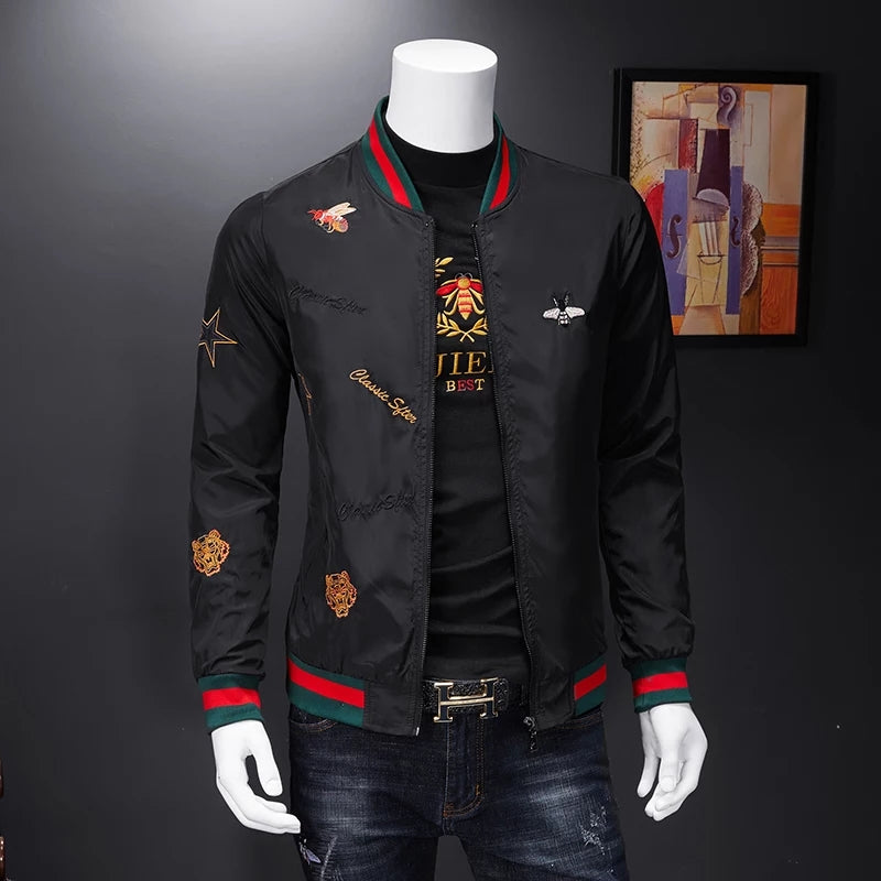 Men Slim Bomber Jacket