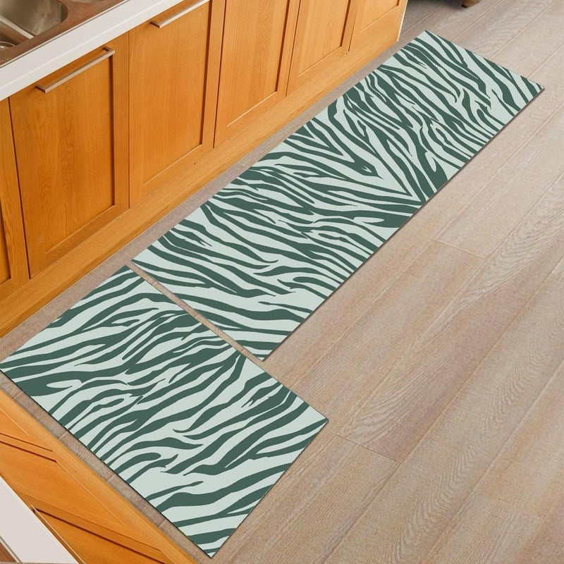 Zebra Stripe Kitchen Mat Set