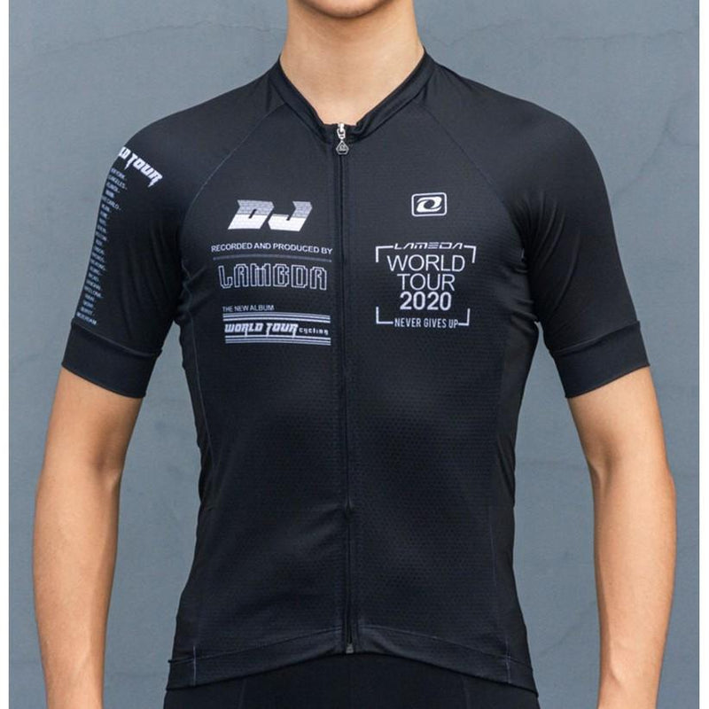 Men Black Cycling Jersey