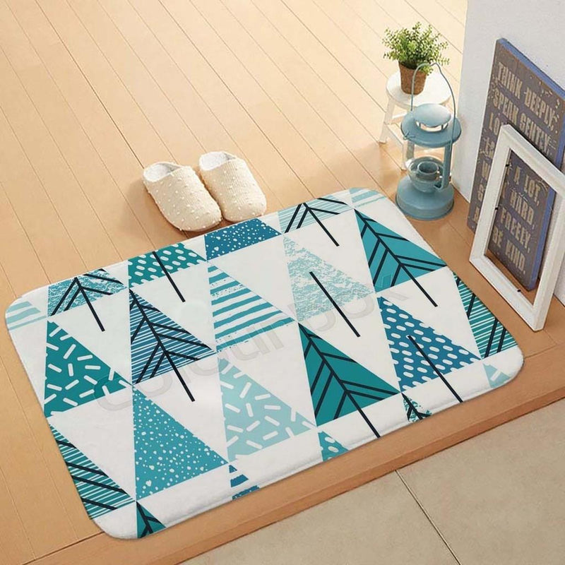 Trees Geometric Floor Mat