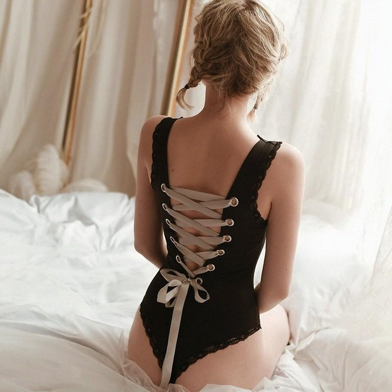 Ladies Bodysuit Tie Back