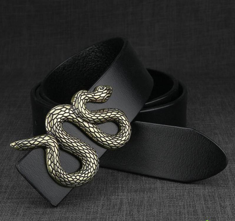 Men Small Snake Shape Belt