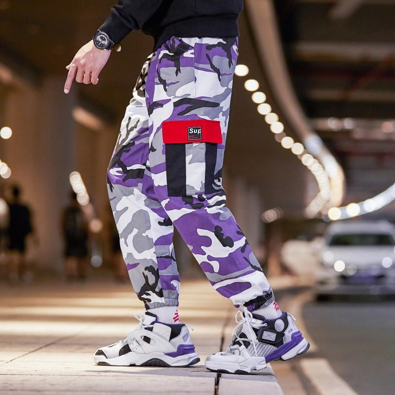Men Purple Camo Pants