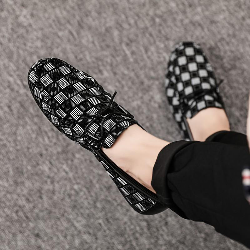 Men Checkered Shoes
