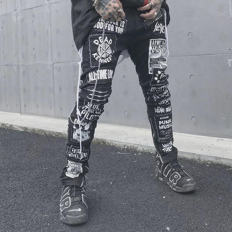 Men Skinny Jeans-Distressed