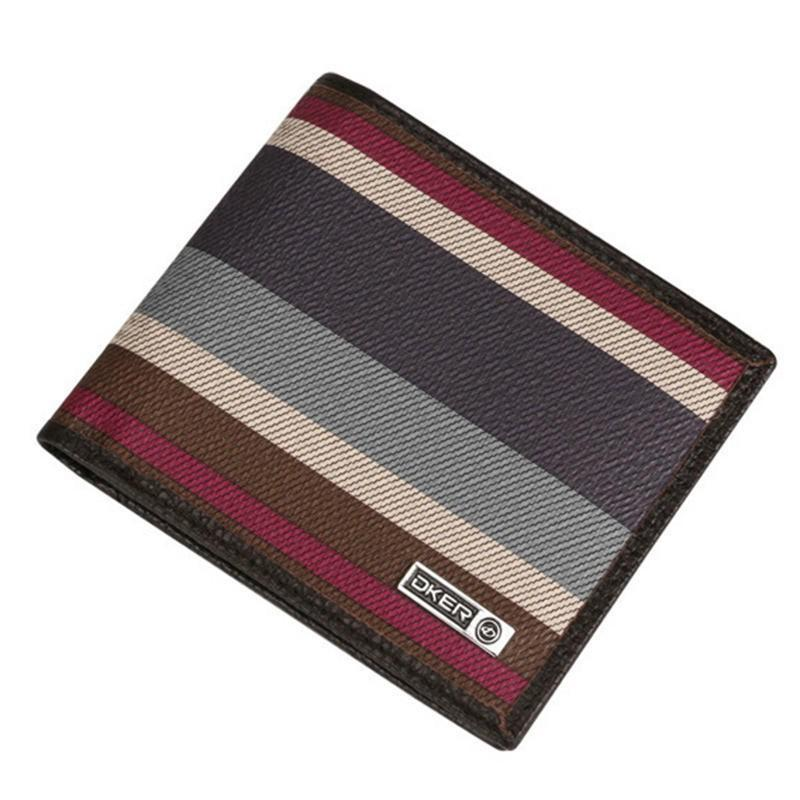 Men wallet-patchwork stripe