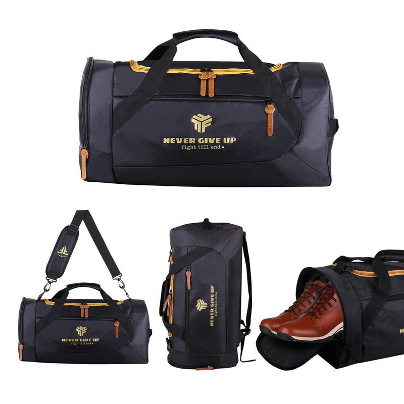 Men Never Give Up Gym Bag
