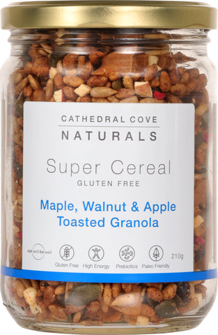 Maple, Walnut & Apple Toasted Granola 210g