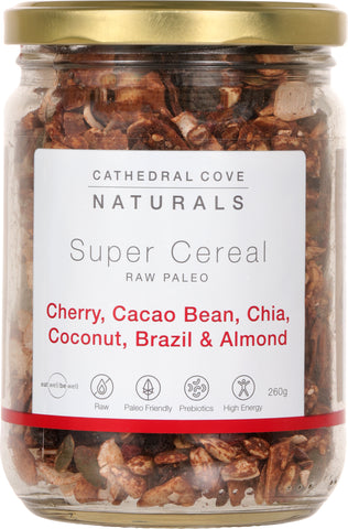 Raw Paleo Super Cereal with Cherry and Cacao Bean 260g