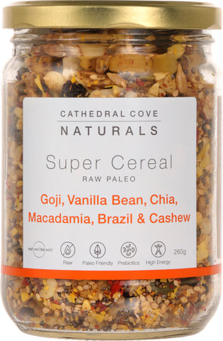 Raw Paleo Super Cereal with Goji and Vanilla Bean 260g