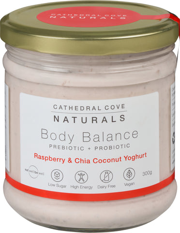 Raspberry and Chia Body Balance Coconut Yoghurt