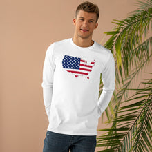 Load image into Gallery viewer, USA White Longsleeve (Unisex)