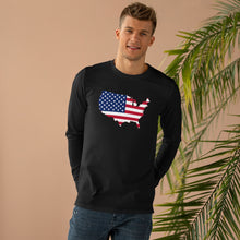 Load image into Gallery viewer, USA Black Longsleeve (Unisex)