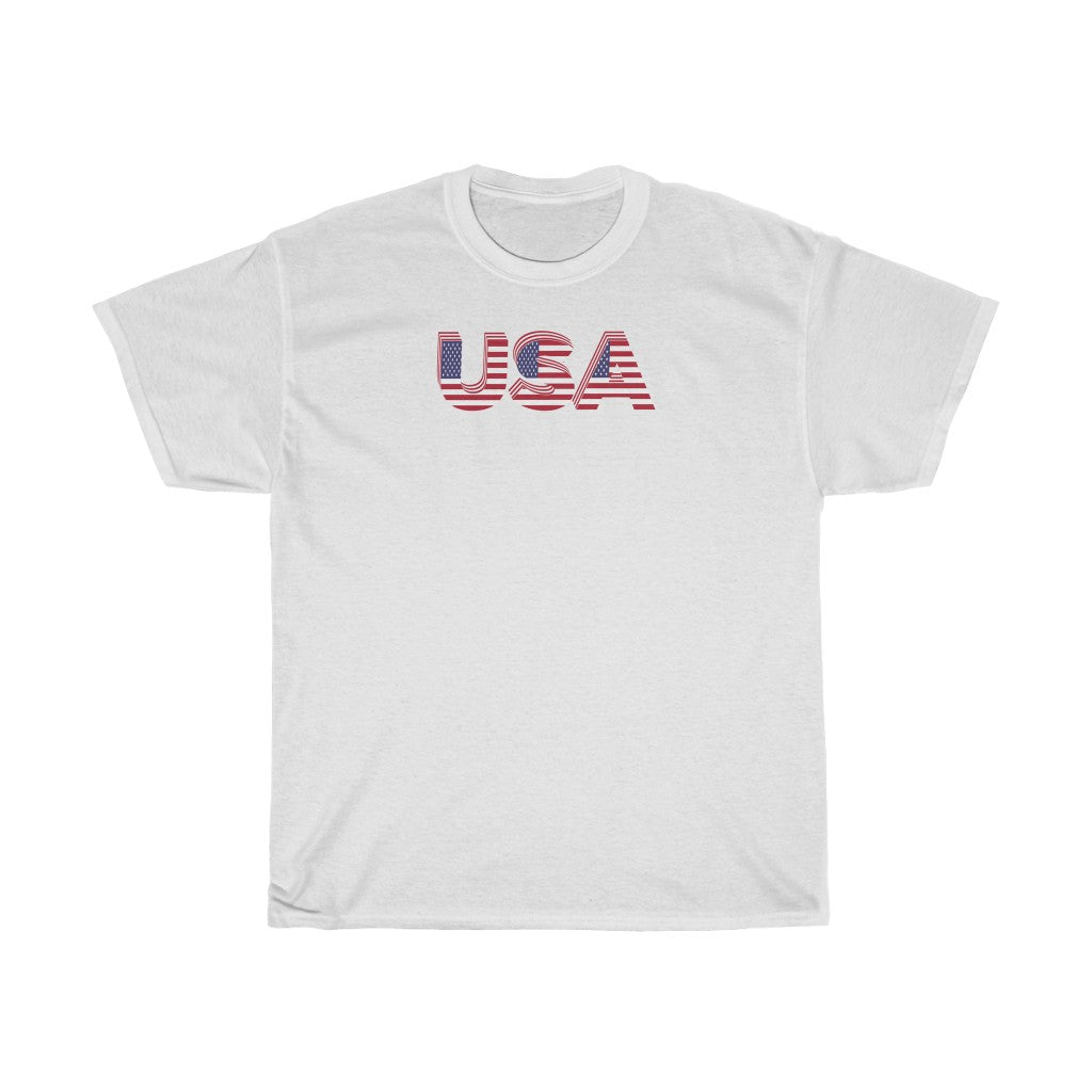 USA White Tee Shirt (Unisex)