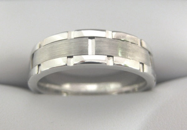 White Gold Men's Wedding Band 4914-6
