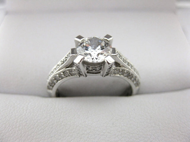 A1680 - 18 Karat White Gold Simon G. Engagement Ring