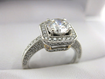 A1780 - 18 Karat White Gold Simon G. Engagement Ring