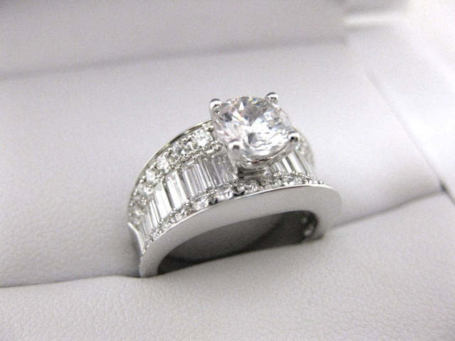 A2254 - 18 Karat White Gold Simon G. Engagement Ring