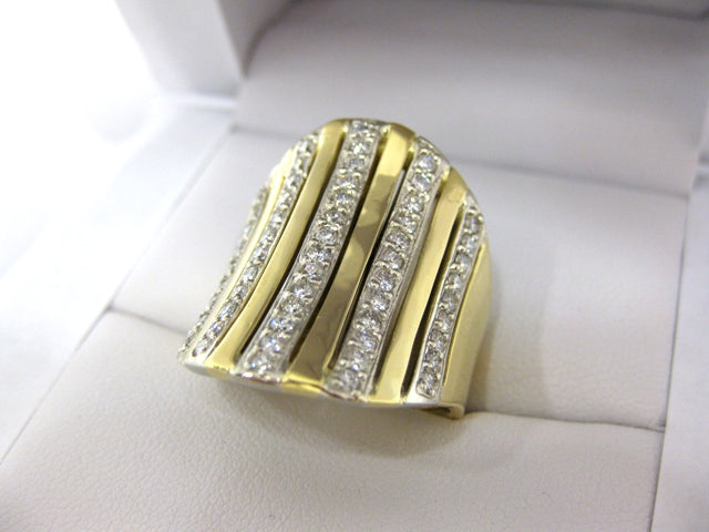 TC6963 - 18 Karat Yellow and White Gold Custom Ring