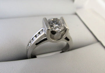 A1109 - Platinum Engagement Ring