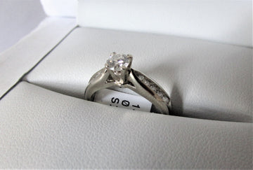 A1116 - 14 Karat White Gold Engagement Ring