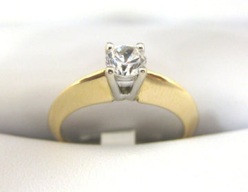 A1215 - 14 Karat Yellow Gold Engagement Ring
