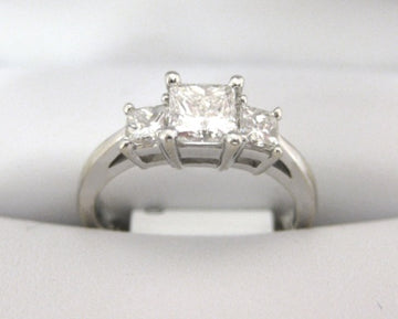A1221 - 18 Karat White Gold Engagement Ring