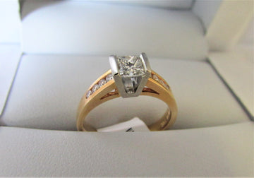 A1330 - 14 Karat Yellow Gold Engagement Ring