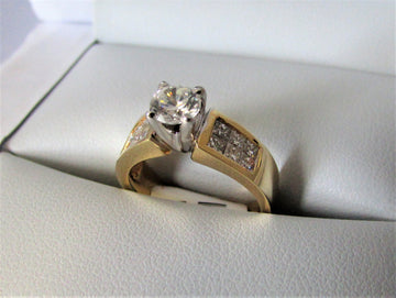 A1344 - 18 Karat Yellow Gold Engagement Ring