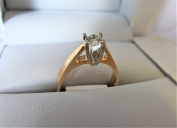 A1347 - 14 Karat Yellow Gold Engagement Ring