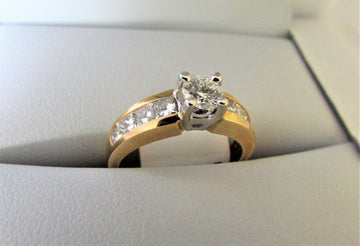 A1354 - 14 Karat Yellow Gold Engagement Ring