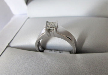 A1590 - 14 Karat White Gold Engagement Ring
