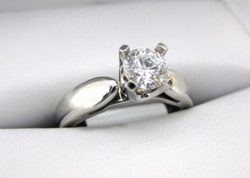 A1997 - 14 Karat White Gold Engagement Ring