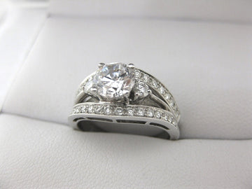 A2034 - 18 Karat White Gold Simon G. Engagement Ring