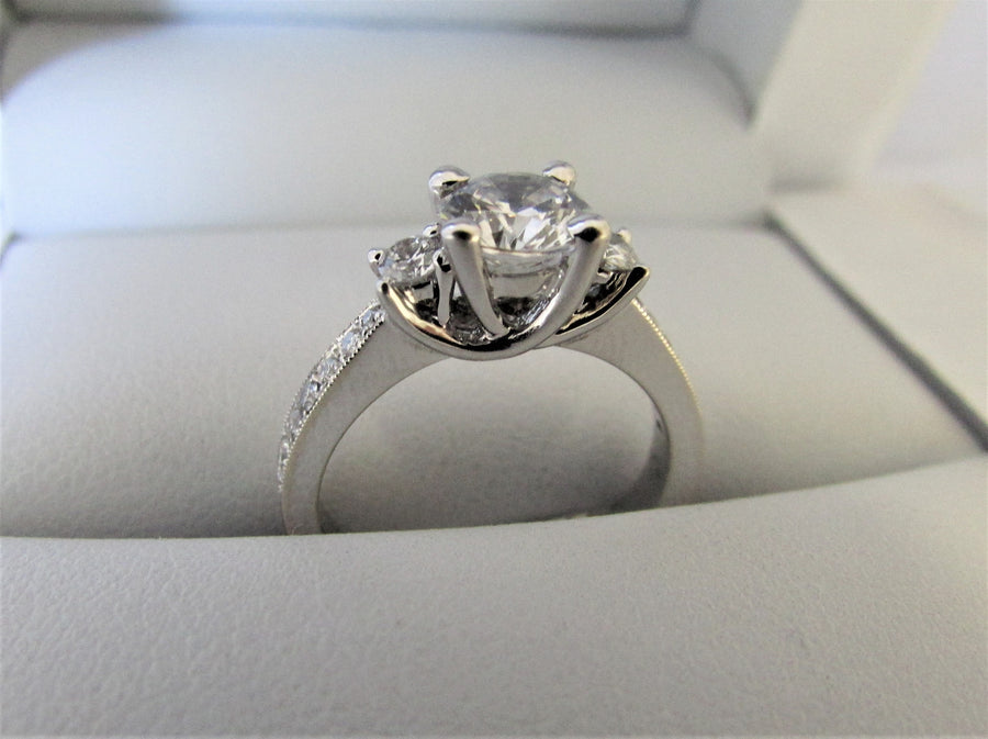 A2118 - 14 Karat White Gold Engagement Ring