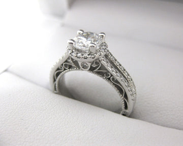 A2381 - 18 Karat White Gold Verragio Ring
