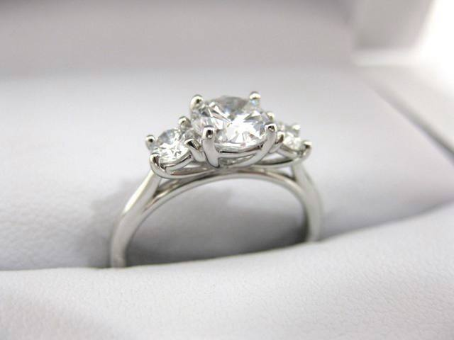 A2484 - 18 Karat White Gold Precision Set Ring