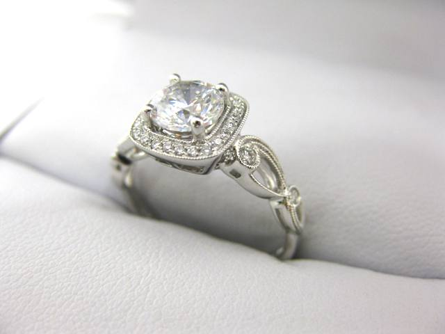 A2529 - 18 Karat White Gold Simon G. Engagement Ring