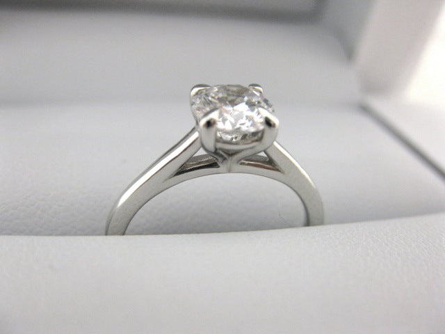 A2625 - 14 Karat White Gold Engagement Ring