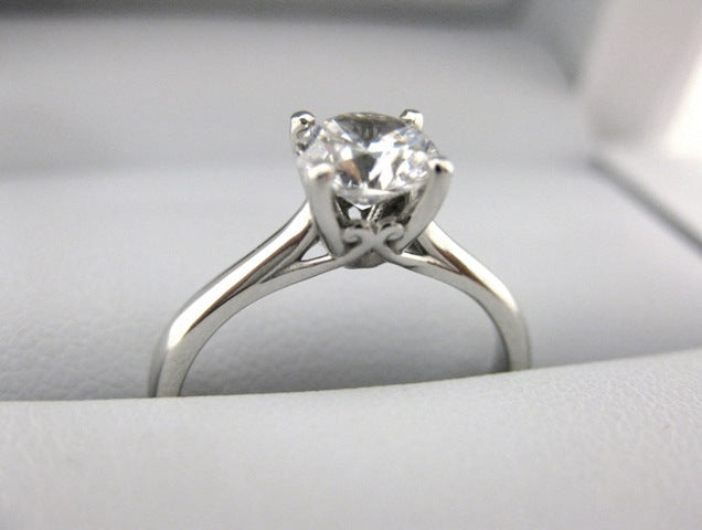 A2633 - 14 Karat White Gold Engagement Ring