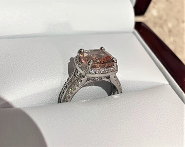 A2783 - 14 Karat White Gold Custom Ring