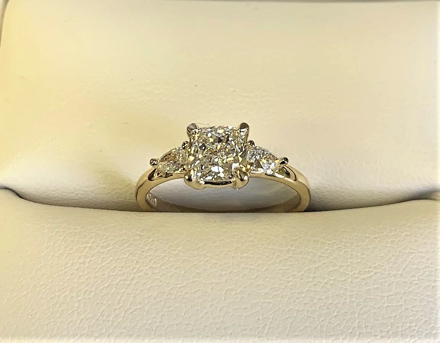 A2798 - 14 Karat Yellow Gold Custom Engagement Ring