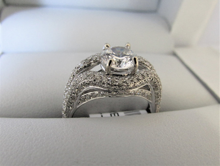 APA4264 - 14 Karat White Gold Engagement Ring