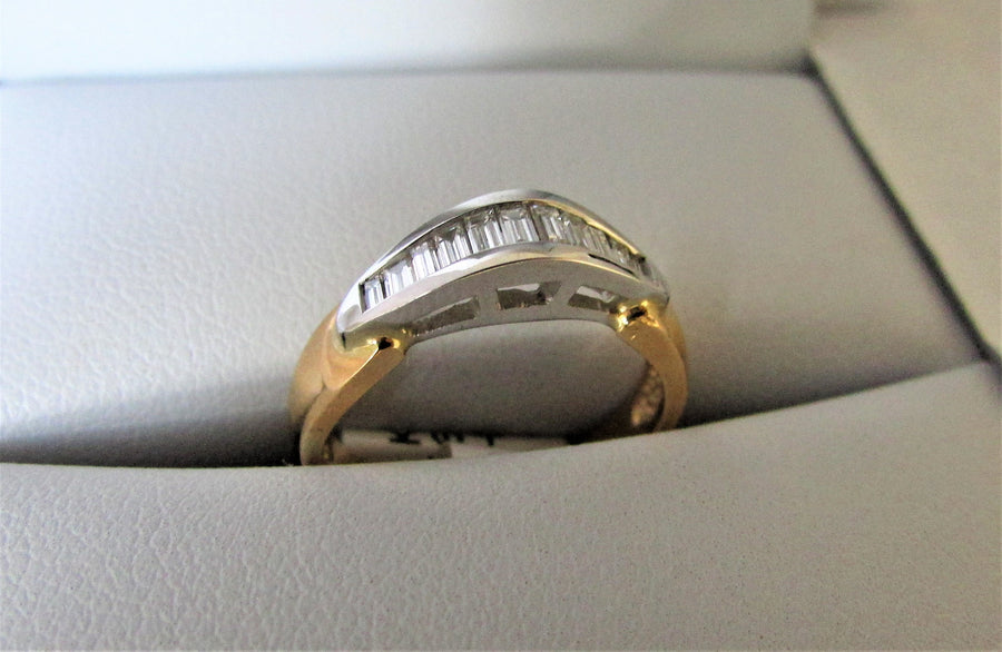 B1027 - 14 Karat White and Yellow Gold Band