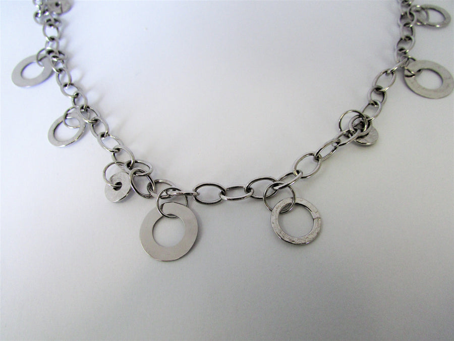 E4877 - 10 Karat White Gold Necklace