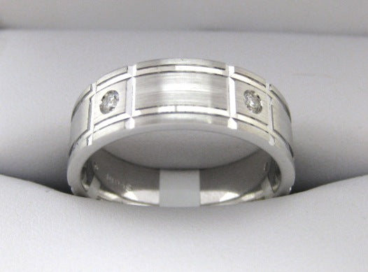 F3047 - 14 Karat White Gold Men's Wedding Band
